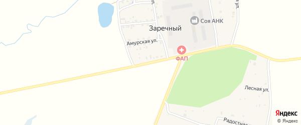 Магистральная улица на карте Заречного поселка с номерами домов