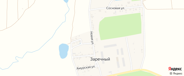 Новая улица на карте Заречного поселка с номерами домов