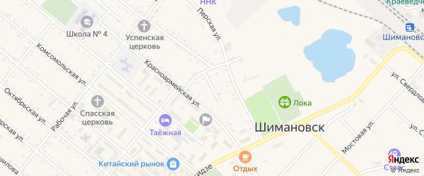 Базарный переулок на карте Шимановска с номерами домов
