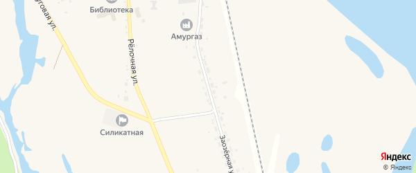 Заозерная улица на карте села Белогорья с номерами домов