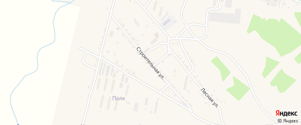 Строительная улица на карте Шимановска с номерами домов