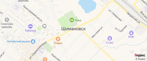 Ударная улица на карте Шимановска с номерами домов