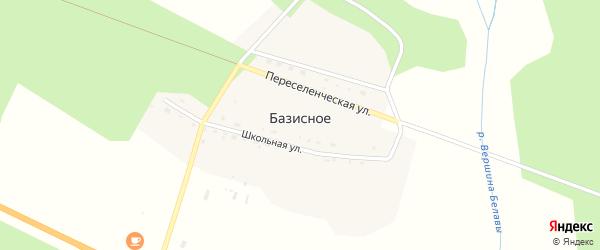 Школьная улица на карте Базисного села с номерами домов