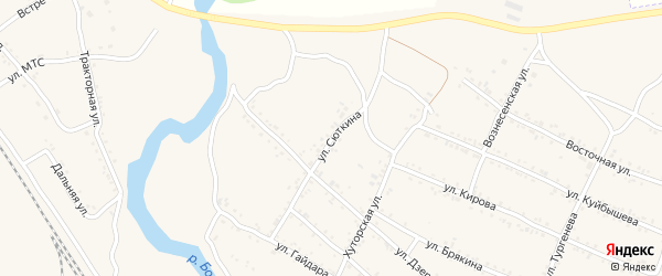 Улица Сюткина на карте Шимановска с номерами домов