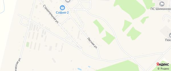 Лесная улица на карте Шимановска с номерами домов