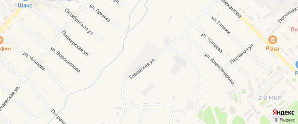 Заводская улица на карте Шимановска с номерами домов