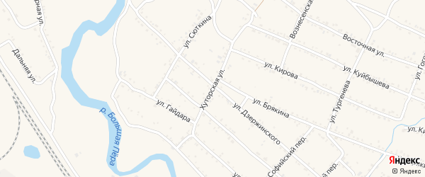 Хуторская улица на карте Шимановска с номерами домов