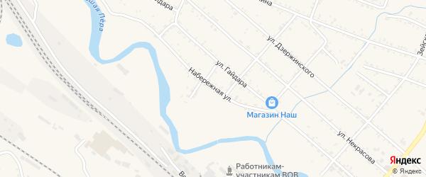 Набережная улица на карте Шимановска с номерами домов