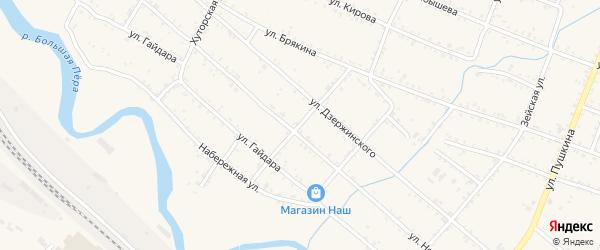 Софийский переулок на карте Шимановска с номерами домов