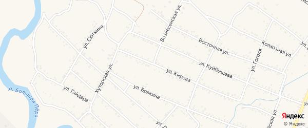 Вознесенская улица на карте Шимановска с номерами домов