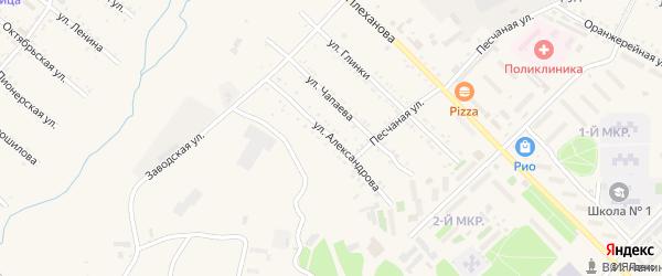 Улица Александрова на карте Шимановска с номерами домов