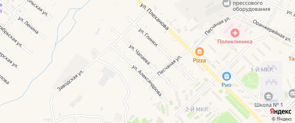Улица Чапаева на карте Шимановска с номерами домов