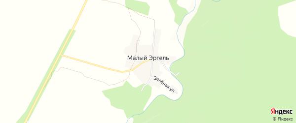 Карта села Малого Эргеля в Амурской области с улицами и номерами домов
