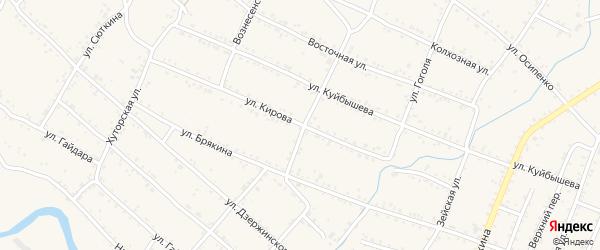 Улица Кирова на карте Шимановска с номерами домов