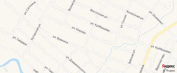 Улица Тургенева на карте Шимановска с номерами домов