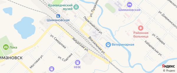 Вокзальная улица на карте Шимановска с номерами домов