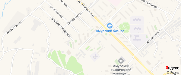 Новостроящая улица на карте Шимановска с номерами домов