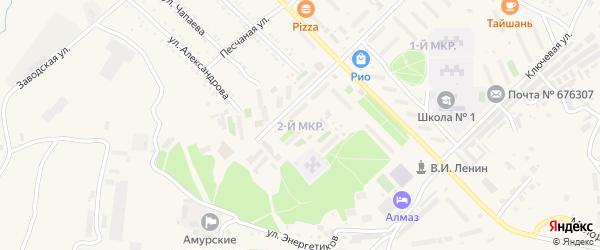 2-й микрорайон на карте Шимановска с номерами домов
