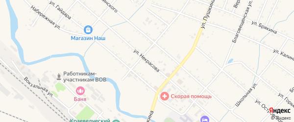 Улица Некрасова на карте Шимановска с номерами домов