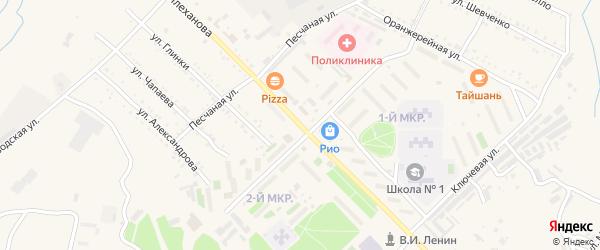 Улица Плеханова на карте Шимановска с номерами домов