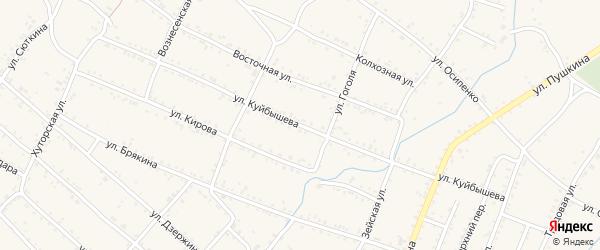 Улица Куйбышева на карте Шимановска с номерами домов