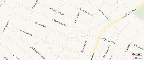Улица Гоголя на карте Шимановска с номерами домов