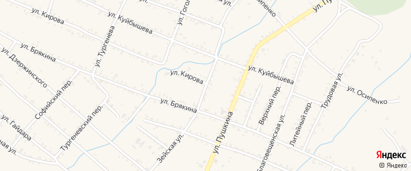 Зейская улица на карте Шимановска с номерами домов