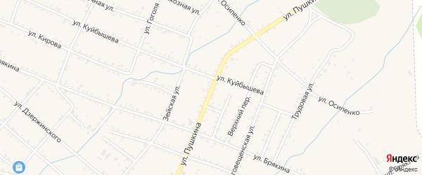Улица Пушкина на карте Шимановска с номерами домов