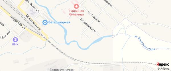 Нижний переулок на карте Шимановска с номерами домов