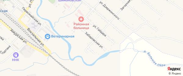 Хабаровская улица на карте Шимановска с номерами домов