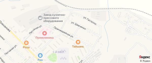 Южная улица на карте Шимановска с номерами домов