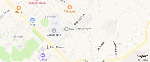 Улица Советской Армии на карте Шимановска с номерами домов