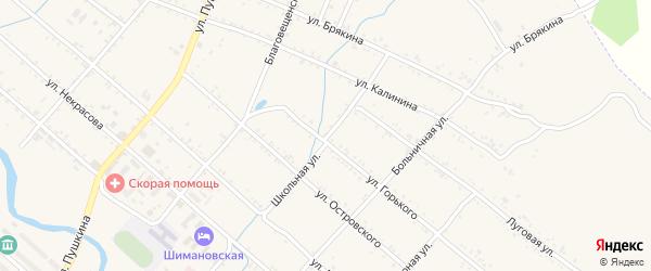 Школьная улица на карте Шимановска с номерами домов