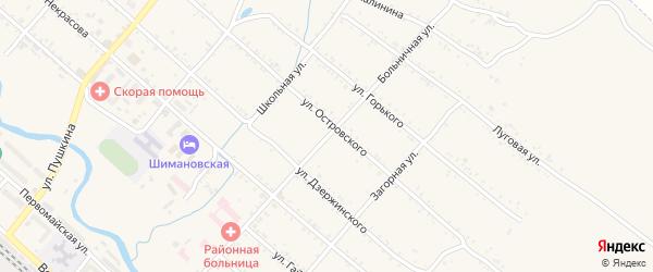 Больничная улица на карте Шимановска с номерами домов