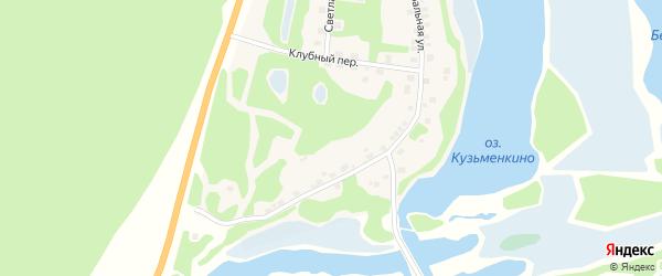 Клубный переулок на карте села Егорьевки с номерами домов