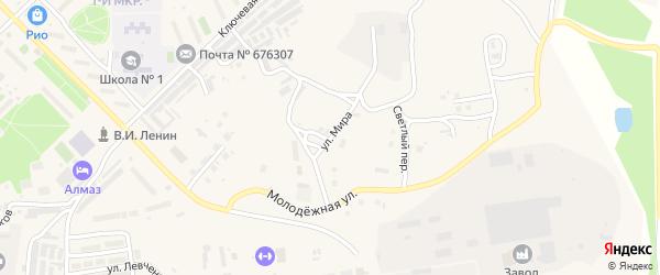 Улица Мира на карте Шимановска с номерами домов