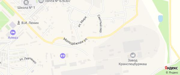 Молодежная улица на карте Шимановска с номерами домов