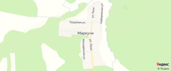 Карта села Маркучи в Амурской области с улицами и номерами домов