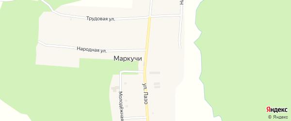 Улица Лазо на карте села Маркучи с номерами домов