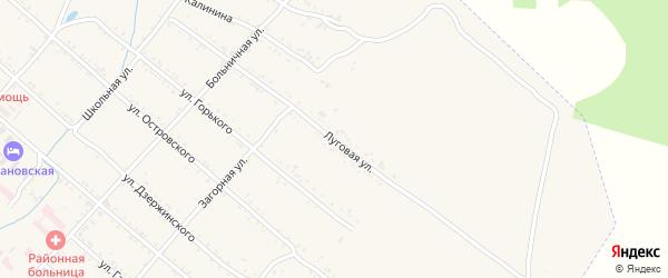 Луговая улица на карте Шимановска с номерами домов
