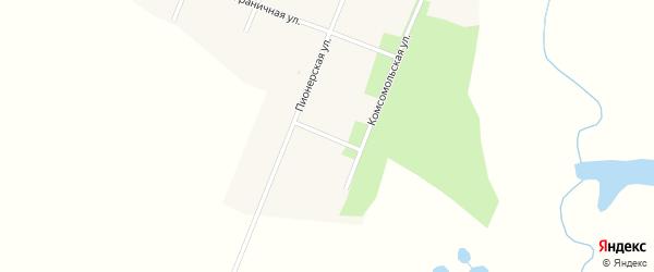 Гильчинский переулок на карте села Муравьевки с номерами домов