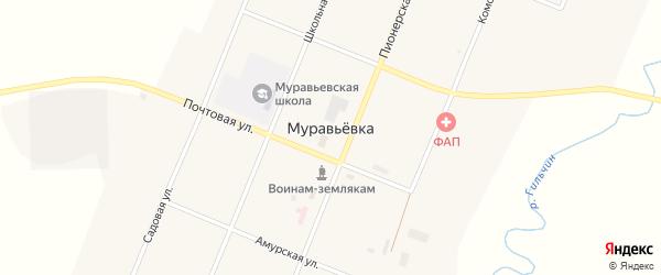 Новая улица на карте села Муравьевки с номерами домов