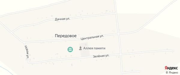 Центральная улица на карте Передового села с номерами домов