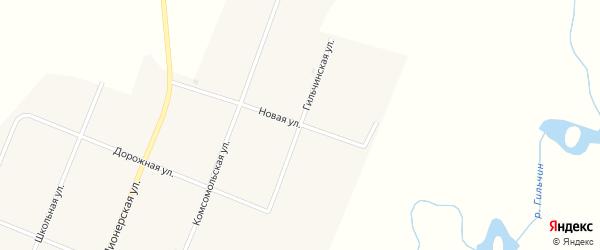 Гильчинская улица на карте села Муравьевки с номерами домов
