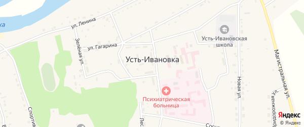 Благовещенский переулок на карте села Усть-Ивановки с номерами домов