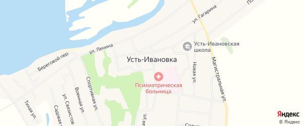 Карта села Усть-Ивановки в Амурской области с улицами и номерами домов