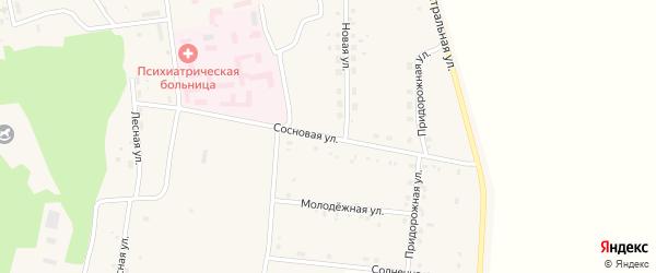 Сосновая улица на карте села Усть-Ивановки с номерами домов