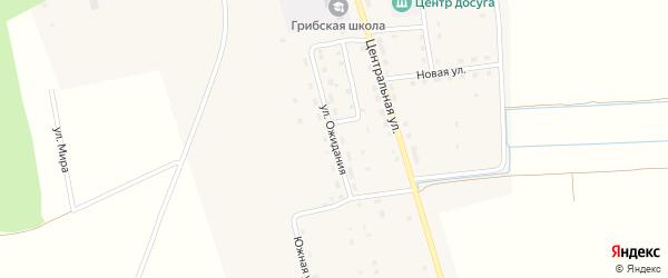 Улица Ожидания на карте Грибского села с номерами домов