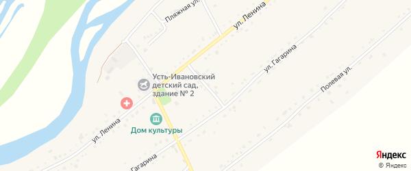 Березовый переулок на карте села Усть-Ивановки с номерами домов