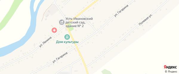 Улица Гагарина на карте села Усть-Ивановки с номерами домов